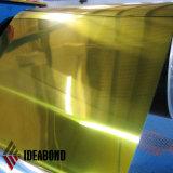 El panel compuesto de aluminio de diverso espejo del color usado en la decoración del edificio