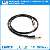 1m chapado en oro DC 3.5 a 3.5 Auricular Cable de audio