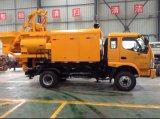 El eje doble diesel y eléctrico de Qjhbt40c forzó el mezclador concreto montado carro con la bomba