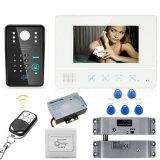 """7 """" video der Tür-Telefon-Türklingel-RFID elektrischer Verschluss Kennwort-der Kamera-1000tvl"""