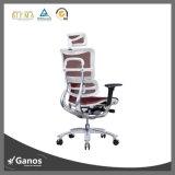 일 좋은 최고 뒤 인간 환경 공학 행정실 의자 머리 받침을%s 가진 튼튼한 가죽 회전대 상승 메시 의자