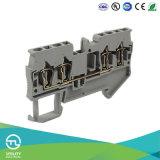 Tipo conetores elétricos terminais da mola de blocos Jut3-2.5/2-2
