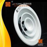 換気の音量調節のダンパーが付いている円形の天井の空気拡散器