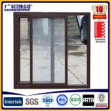 Hogar de la cocina que resbala la capa del polvo de la ventana de marco/la ventana doble de cristal reflexiva del resbalador