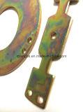 Placage-Coloration personnalisée de zinc estampant la pièce en métal pour la présidence d'oscillation