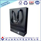 Bolso de compras de papel modificado para requisitos particulares, bolsa de papel del regalo