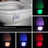 8개의 색깔 Battery-Operated 거는 사발 Mostion 감 LED 화장실 빛