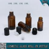 rullo di vetro ambrato di 30ml 20ml 15ml 10ml sulla bottiglia con il rullo