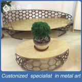 Chaise en forme spéciale style nouveau style 3 + 2 + 1 en acier inoxydable avec table ovale