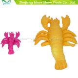 A mágica plástica cresce em brinquedos coloridos do animal de mar da água para miúdos