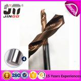 Dígito binario de taladro de acero del carburo sólido del tungsteno de la alta precisión