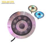 24V indicatore luminoso subacqueo variopinto della fontana dell'acciaio inossidabile LED della decorazione IP68 316