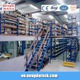 Mensola della soffitta con la cremagliera multilivelli della protezione della cremagliera d'acciaio sicura del mezzanine