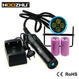 Электрофонарь Макс 4000 Lm электрофонаря Hoozhu Hu33 СИД перезаряжаемые для подныривания