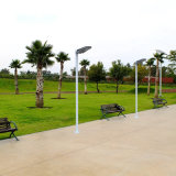 China IP65 10W barato todo en una iluminación solar de la pared del jardín de la luz de calle del LED