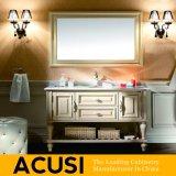 Meubles simples en gros de la meilleure qualité neufs de salle de bains de Module de salle de bains de vanité de salle de bains en bois solide de type (ACS1-W60)