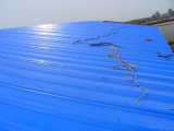 Colorir chapa de aço ondulada/folha ondulada colorida da telhadura