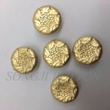 Bouton de partie lisse de couture en alliage de zinc en métal de logo de nid d'abeilles pour la couche