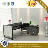 Nuovi vetro del nero della mobilia dell'ufficio progetti & Tabella dell'ufficio del blocco per grafici d'acciaio (NS-GD003)