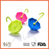 Стрейнер листьев Infuser чая зонтика силикона качества еды Ws-If064 для чашки кружки, бака чая