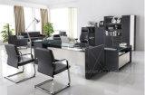 Mode et design moderne Cuir PVC / MDF Office Table (V3)