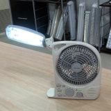 Bewegliche Solarmarken-nachladbare Miniventilator-Lampe