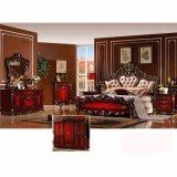 غرفة نوم أثاث لازم مجموعة مع أثر قديم سرير وخزانة ثوب ([و813ب])