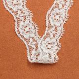 Платье венчания использовало связанный Rose шнурок вышитый парчой
