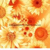 100% poliéster Sun Flower Pigment & Disperse tecido impresso para conjunto de cama
