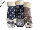 Tre calzini capi animali delle donne di colore (RY-SC1619)