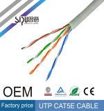 Cable de LAN del precio de fábrica del cable de la red de Sipu UTP Cat5e Cat5