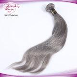 Покрасьте человеческие волосы 1b/Gray бразильские прямые Ombre