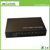 Переключатель 8 локальных сетей гигабита портов автономный с 8 портами SFP