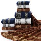 卸し売り綿のホテルの表面浴室タオルは、専門タオルの供給セットした