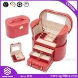 装飾的なハンドメイドPUの革ギフトの包装の宝石箱