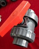 Robinet à tournant sphérique des syndicats de PVC pour l'usage de dispositif d'entraînement
