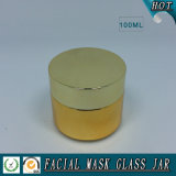 100ml Vergoldung-Glaskosmetik-Sahneglas