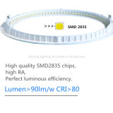15W plafonnier rond de la lumière CRI>80 DEL Downlight de panneau de l'ampoule d'intérieur ultra mince AC85-265V de lampe