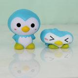 Verkaufs-heiße blaue Pinguin-Modell PU-Druck-Spielwaren