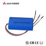 Batterie Li-ion rechargeable de la batterie au lithium 3.7V 2000mAh 18650