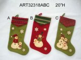 Décoration de Noël Santa Snowman Stocking Mitten, 3st