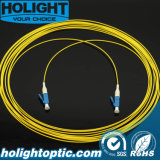 Câble optique LC de connexion de fibre au jaune uni-mode recto de LC 0.9mm