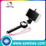 Vara sem fio de Monopod Selfie do cabo para tomar a fotos mini W03