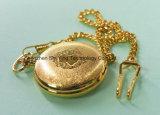 Mejor reloj de bolsillo de oro de cuarzo con cadena
