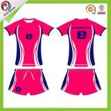 女性卸し売りバレーボールのスポーツのユニフォームはのためのカスタム設計する