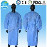 La robe Ordre-Stérilisée ou non chaude d'isolement de vente/robe chirurgicale classent librement