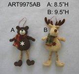 Ornamenti dell'orso e della renna con i piedini del tasto, decorazione di natale
