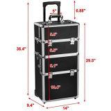 Valigia cosmetica di alluminio di corsa di trucco