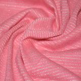 衣類のための綿かポリエステルまたはLurexの縞ジャージー
