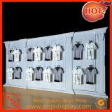 Estantes y estantes contemporáneos del almacén de ropa del metal para el almacén